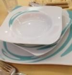 Servizio di piatti  Azzurro