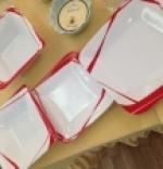 Servizio di piatti 38 pezzi - Rouge